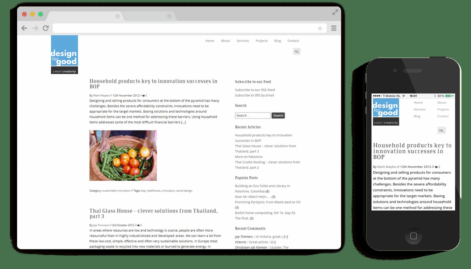 responsive WordPress theme Design for Good