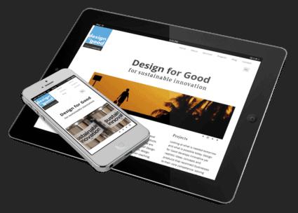Een responsive WordPress theme voor Design for Good