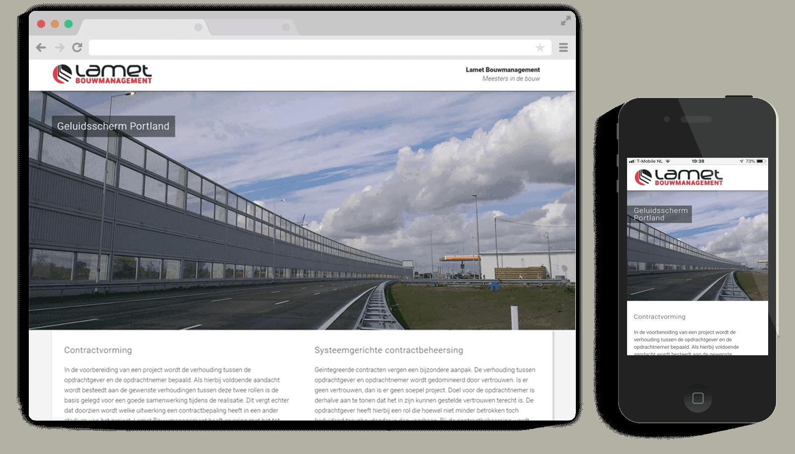 responsive One-Page WordPress theme Lamet
