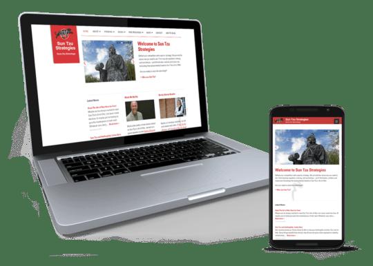 Responsive WordPress Theme voor SunTzuStrategies.com