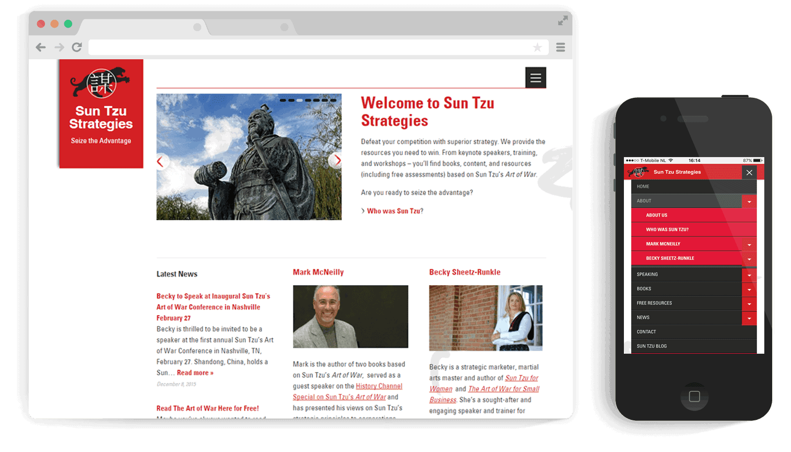 responsive WordPress theme SunTzu Strategies