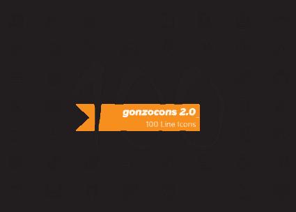 De 'gonzocons 2.0' is een custom icon font gemaakt voor persoonlijk gebruik