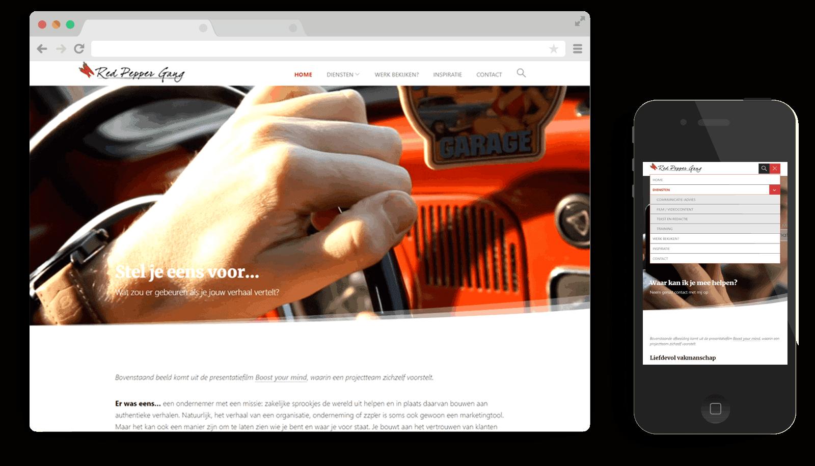 responsive WordPress theme Redpeppergang.com