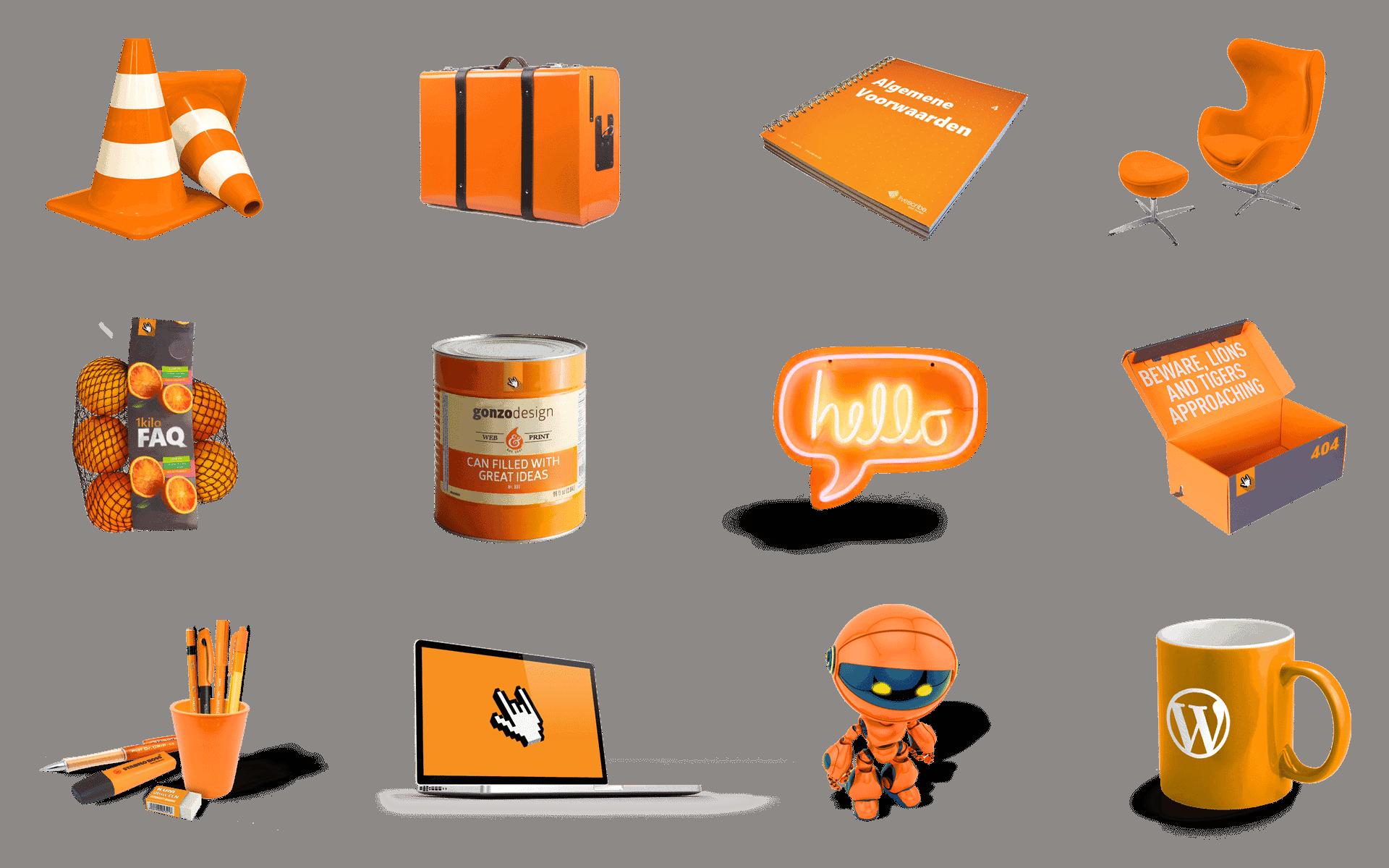 Afbeelding met een aantal van de nieuwe Hero images die gebruikt worden in de headers van gonzodesign.nl