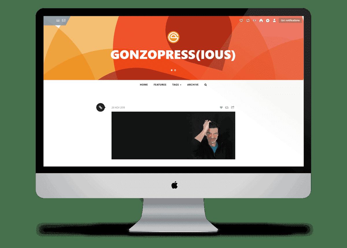 gonzopress(iuos) - Premium Tumblr Theme